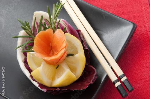Decorazione con limone carota e radicchio stock photo for Decorazione limone