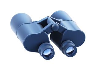 isolated binoculars 3d render