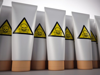 Obraz Toxic cream tubes - fototapety do salonu