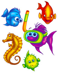 assorted colorful fish