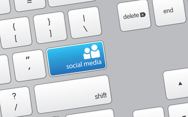 Keyboard with Social Media Icon