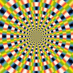 Poster de jardin Psychedelique vector optical art