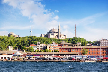 Hagia Sophia from the sea in Istanbul