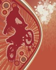 Biker Grunge Poster Vector 3