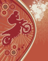 Biker Grunge Poster Vector 2
