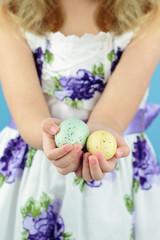 Holding Easter Eggs