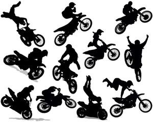Fotomurales - Motorcycle stunt set 01
