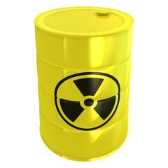 radioactive tank isolated on white
