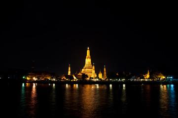 Wat Arun Temple night  in thailand
