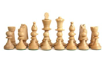 16 white chesspieces in their start order