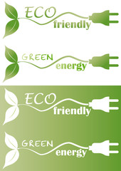 eco friendly with plug and leaf