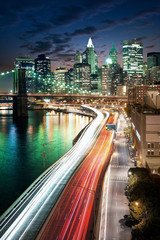 Wall Mural - Amazing New York cityscape - taken after sunset