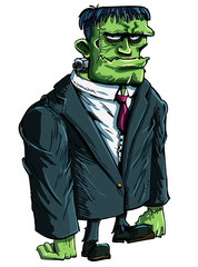 Cartoon Frankenstein moster as a boss