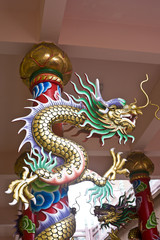 dragon statue on the pole