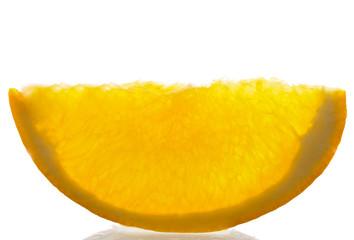 macro shot of an orange
