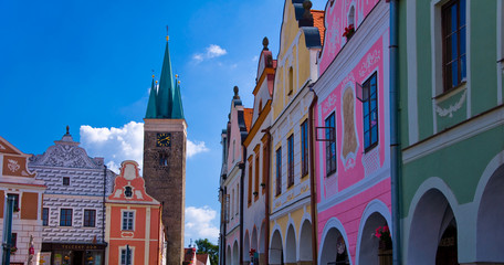 Square in the town Telc