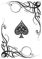 Decorative Ace Card