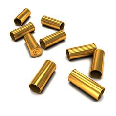 3d Empty bullets casings