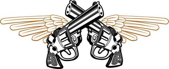 wing revolver emblem