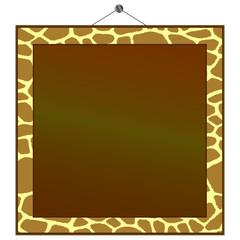 giraffe print frame