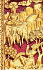 Буддийская фреска