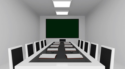 Conference room 3d Image