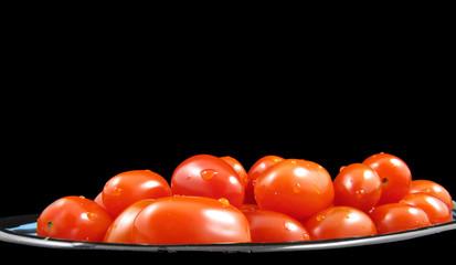 Cherry Tomatoes On Black