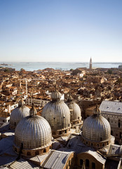 Venice aerial view with Saint Mark Cathedral