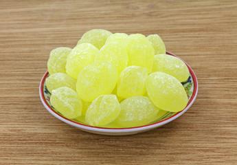 Lemon drops in dish