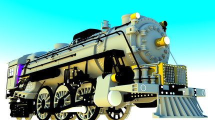 Vintage locomotive engine