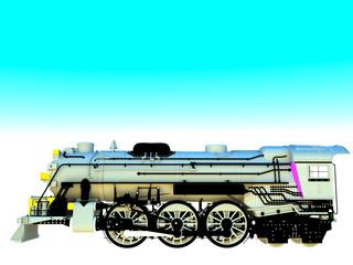 Vintage locomotive engine