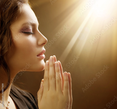 Beautiful Praying Girl Stock Photo And Royalty Free Images On
