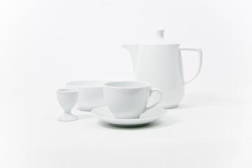 Design Frühstückstisch in Weiss