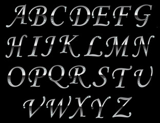 Chrome typeface Gray.