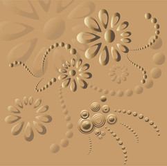 Vector background, abstract shapes on sand..