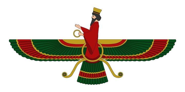 Faravahar - one of the best-known symbols of Zoroastrianism