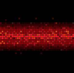 wide glowing red stripe on black background