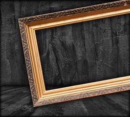 Blank Picture Frame in Dark Room