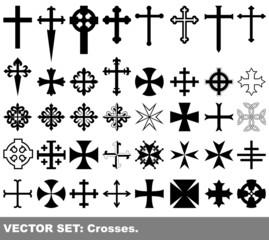 Vector set: crosses