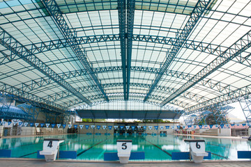 stadium, swimming pool..