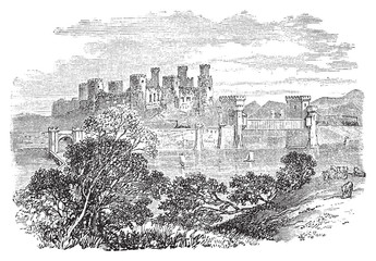 Aberconway Castle, now known as Conway Castle, in Wales