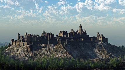 Printed roller blinds Castle Medieval Hilltop Castle