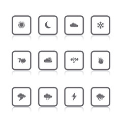 gray icons weather square
