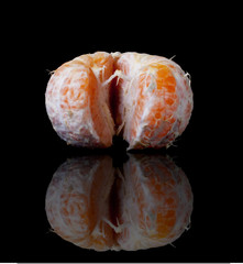 Single peeled mandarin