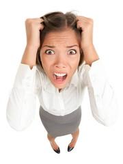 Stress business woman