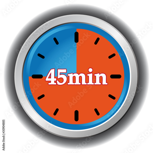 Quot 45 Minutes Icon Quot Stock Image And Royalty Free Vector