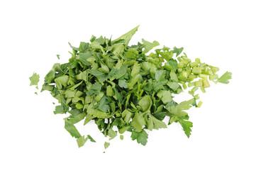 Chopped parsley Isolated on the white background