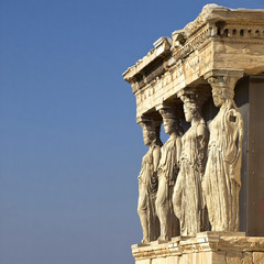 Caryatides, erechteion temple  Acropolis, room for type
