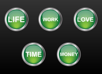 life buttons
