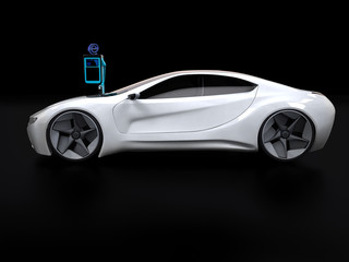 elektromobil Ladestation Sportwagen 3D